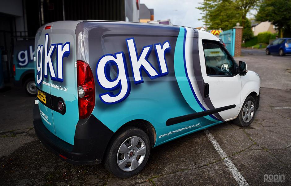 GKR fleet partial 3M™ wraps.