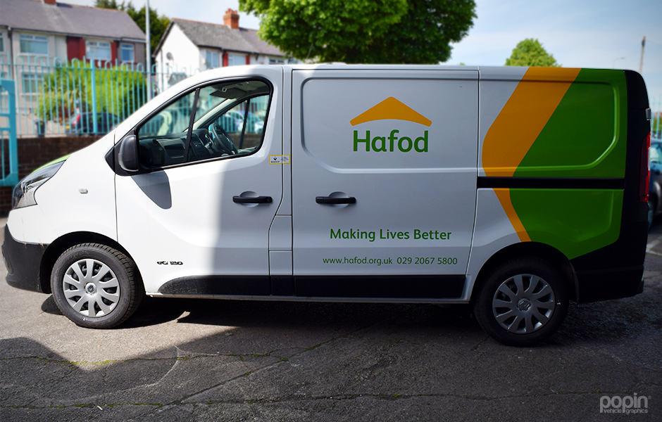 Hafod Housing Partial Wrap Van