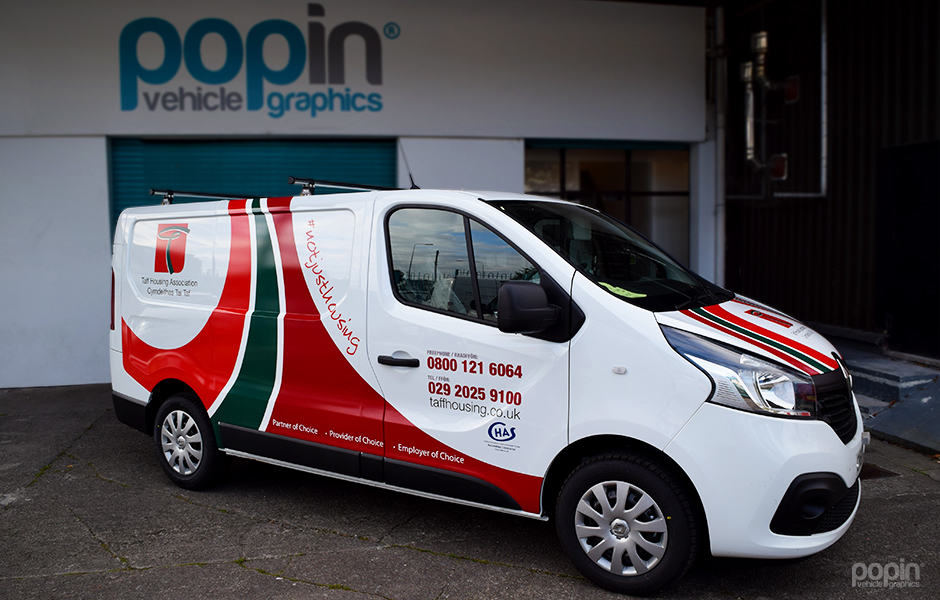 Digitally printed 3M™ graphics on various vehicles.