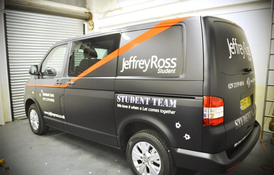 Jeffrey Ross - A Team Van Partial Matte Black Colour Change + Detailing_